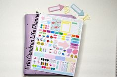 Sticker kit for the erin condren life planner via KarolinasKrafts  -- can be used for Plum Paper planners!!! Does custom work too
