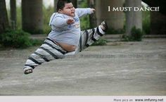 funny people picture qoutes | Fat boy dancing - Funny Picture