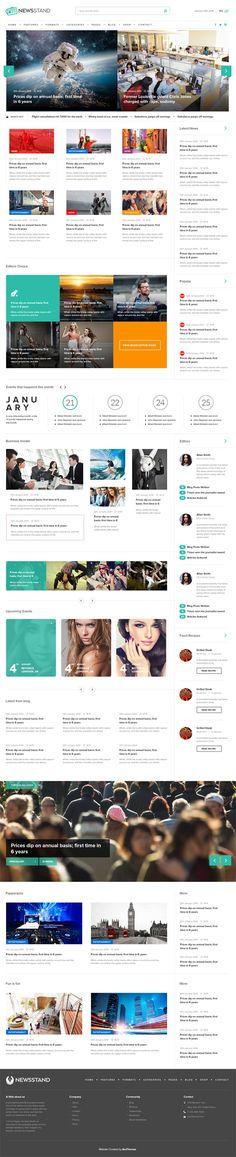 NewsStand – Magazine/Blog/Shop WordPress Theme #html5wordpressthemes #responsivedesign #wordpressthemes