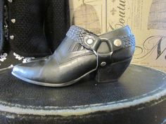 Vintage leather Harness Booties by glamtownvintage on Etsy, $32.96