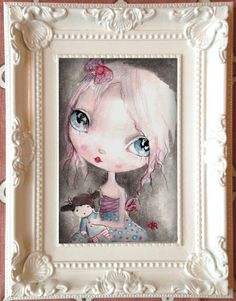 Original+painting+mixed+media+on+by+ppinkydollsart+on+Etsy,+$90.00