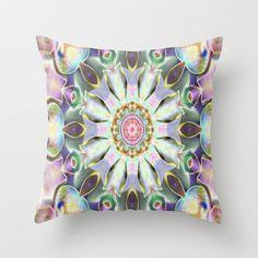 Kaleidoscope Peacock  Throw Pillow by Rokin Art by RokinRonda - $20.00