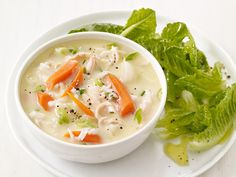 Lemon Chicken Soup and Salad from FoodNetwork.com