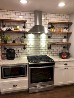 New kitchen furniture storage floating shelves Ideas Rustic Kitchen Cabinets, Refacing Kitchen Cabinets, Kitchen Cabinet Design, Diy Cabinets, Kitchen Shelves, Kitchen Furniture, Kitchen Decor, Distressed Kitchen, Cheap Furniture