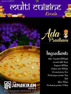 Ada Pradham- yummy & classic dessert of kerala, espically prepared during #onam feast! Lets know more about kerala cuisine! #srijanakiram #kerala #ada_pradham