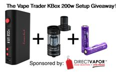 Enter to win a KBOX 200 + Smok TFV4 setup from @thevapetrader #thevapetradergiveaways