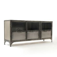 Storage can be functional and stylish with west elm media consoles. Our media console comes in a variety of sizes for small spaces or big living rooms. Console Tv, Console Table, Media Storage, Storage Spaces, West Elm, Media Furniture, Street Furniture, Furniture Storage, Industrial Furniture