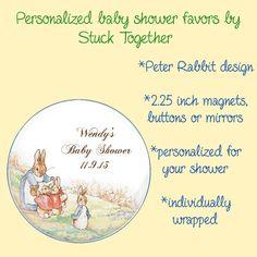 Peter Rabbit Shower Favors Stuck Together Magnets, $18.50