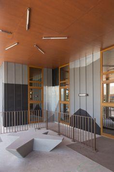 Ecole de la Roche, Villebon sur Yvette (France) by G Architecture, Massy  #architecture #DesignInterior #Design #interior #zinc #NaturalZinc #AnthraZinc #France #School
