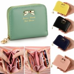 Colorful Lady Lovely Purse Clutch Women Wallets Small Bag PU Leather Card Hold