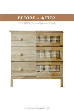 home decor ikea DIY Cane Dresser Easy Diy Projects, Home Projects, Furniture Makeover, Home Furniture, Ikea Dresser Makeover, Ikea Furniture Hacks, Pallet Furniture, Furniture Ideas, Bedroom Furniture