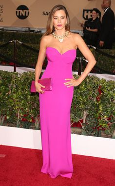 Sofía Vergara from Best Dressed at 2016 SAG Awards Positively pretty! This exquisite Vera Wang gown makes us happy.