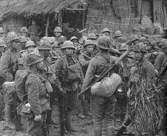 Japanese army. A japanese army officer giving orders to his troops before going to combat (south china 1939)