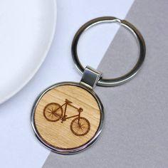 Wooden Bicycle Keyring