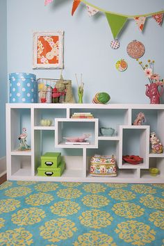 like this shelving lots. and the rug!