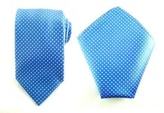 Mens Necktie Blue White Polka 8.5 CM Necktie with by AristoTIES