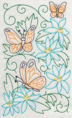 Vintage Embroidery Designs Machine Embroidery Designs at Embroidery Library! Hand Embroidery Flowers, Learn Embroidery, Hand Embroidery Stitches, Machine Embroidery Patterns, Hand Embroidery Designs, Embroidery Applique, Hungarian Embroidery, Vintage Embroidery, Embroidery Transfers