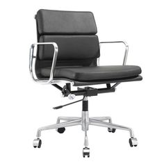Meelano Mid-Back Leather Office Chair | AllModern