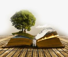 Creative books on nature scenery PNG and PSD Fantasy Landscape, Fantasy Art, Surreal Artwork, World Of Books, Photoshop Photos, Photo Retouching, Photo Manipulation, Belle Photo, Cute Wallpapers