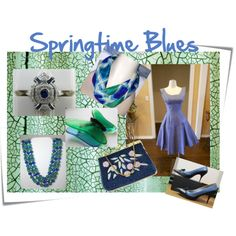 """Springtime Blues"" by thejewelseeker-1 on Polyvore"