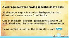 Inspiring feats - A year ago, we were having speeches in my class.