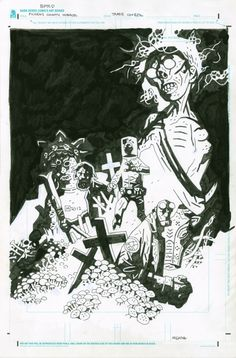 Mignola / Hellboy (couverture) par Mike Mignola - Oeuvre originale