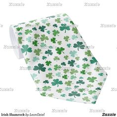 Shop Irish Shamrock Neck Tie created by LeonOziel. Custom Ties, Unique Image, The Office, St Patricks Day, Floral Tie, Colorful Backgrounds, Night Out, Irish, Pattern