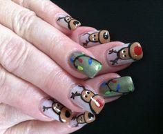 Christmas Nails #Christmasnails #nailart #nails #ChristmasNailArt