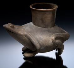 Mississippian jar depicting a frog, AD 1200–1400, Blytheville, Mississippi County, Arkansas - Clay - Infinity of Nations: Art and History in the Collections of the National Museum of the American Indian - George Gustav Heye Center, New York