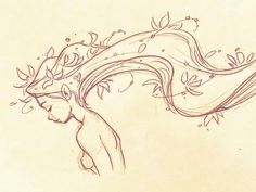 Loong flower-fairy hair in the wind inspired by Fairy Oak's lovely illustration… – Art Drawing Tips Wind Drawing, Flower Art Drawing, Nature Drawing, Flower Drawings, Drawing Art, Fairy Drawings, Art Drawings Sketches, Art Floral, Fairy Sketch
