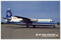 Air New Zealand Fokker F-27 Friendship postcard