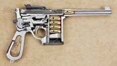 Cut in half Chinese Mauser C96 chambered in 45
