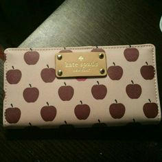 Kate Spade wallet Brand new authentic Kate Spade wallet with apple print. Never used. kate spade Accessories