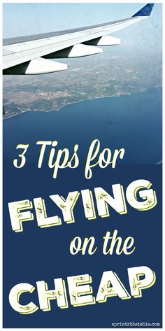 3 Tips for Flying on the Cheap