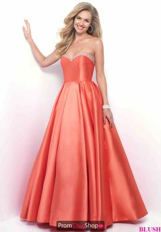Blush A Line Beaded Dress 5626