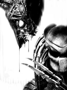 universe of chaos : Photo Alien Vs Predator, Predator Movie, Predator Tattoo, Aliens Movie, Science Fiction, Alien Tattoo Xenomorph, Scary Movies, Movie Characters, Sci Fi Fantasy