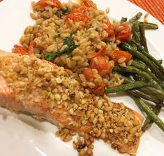 every single aspect. of Plated's pine nut crusted salmon dish enraged me tonight. Plated Reviews, Crusted Salmon, Salmon Dishes, Meal Delivery Service, Fried Rice, Pine, Fries, Meals, Ethnic Recipes