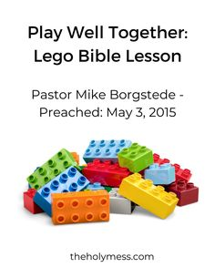 Kids Church Lessons, Bible Lessons For Kids, Sunday School Lessons, Lego Bible, Sharpie Plates, Lego Creative, Childrens Sermons, Sermon Notes, Object Lessons