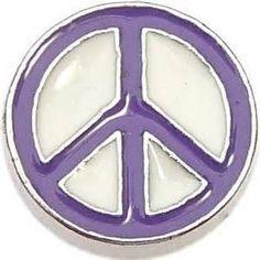 White & Purple Peace Sign - P2 Dream Lockets