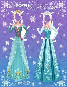 Disney's+Frozen+Paper+Dolls+|+SKGaleana