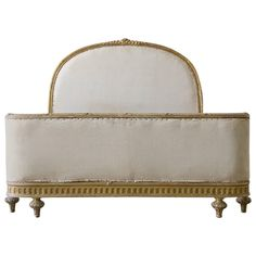 Antique Full Size French Bed, circa 1900 | From a unique collection of antique and modern beds at https://www.1stdibs.com/furniture/more-furniture-collectibles/beds/