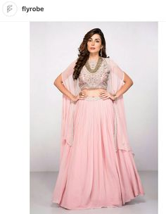 Wedding Saree Blouse, Lehenga, Ethnic, Two Piece Skirt Set, India, Formal Dresses, Skirts, Cape, Pink