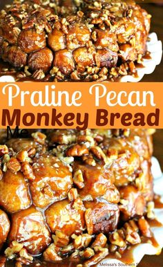 Praline Pecan Monkey Bread Using Rhodes Frozen Yeast Rolls Desserts Homemade Monkey Bread, Monkey Bread Muffins, Cinnamon Roll Monkey Bread, Monkey Bread Recipe Rhodes, Homemade Breads, Cinnamon Cake, Brunch Recipes, Breakfast Recipes, Breakfast Dishes