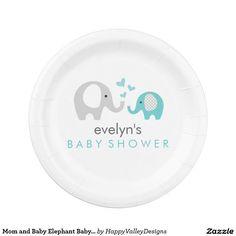 sc 1 st  Pinterest & Cute Purple Elephant Girl Baby Shower Paper Plate | Babyshower