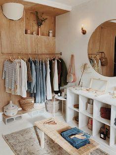 Cozy warm closet.