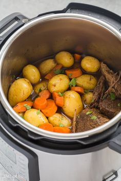 Instant Pot Pot Roast recipe is an easy, comforting dinner that comes together so quickly in the pressure cooker! With tender veggies (not mushy!), a fall apart tender roast and seasoned gravy. With step by step VIDEO Pressure Cooker Pot Roast, Instant Pot Pressure Cooker, Pressure Cooker Recipes, Pressure Pot, Pressure Cooking, Instant Pot Pot Roast, Instant Pot Dinner Recipes, Easy Dinner Recipes, Easy Meals