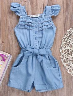 Baby Girl Fashion, Teen Fashion, Toddler Girl Outfits, Kids Outfits, Nautical Swimsuit, Angel Dress, Moda Chic, Kids Frocks, Jumpsuit Pattern
