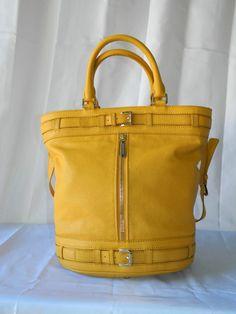 MICHAEL Michael Kors Yellow Kingsbury Medium Leather Tote