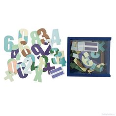 Sebra magneter - tal/matematik i boks - blå - Sebra - Mærker