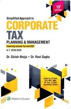 CCH Simplified Approach to Corporate Tax Planning & Management By Girish Ahuja & Ravi Gupta 19th Edition 2018 for CS final/ CFA/MFC/MBA/M.COM Pin for later! kenya is using the internet to research the history of rock music in the united states. which is the best way she can determine whether the sites she finds are reliable sources, outline for a research paper, research paper chapter